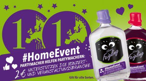 #HomeEvent: KLEINER FEIGLING-Fans helfen der Konzert- und Veranstaltungsbranche
