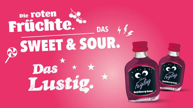 KLEINER FEIGLING | RED BERRY SOUR: Die roten Früchte. Das Sweet & Sour. Das Lustig.