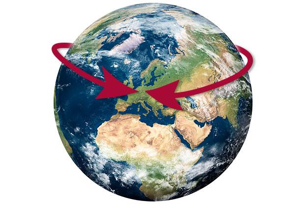 BEHN spirit importer - worlwide globe